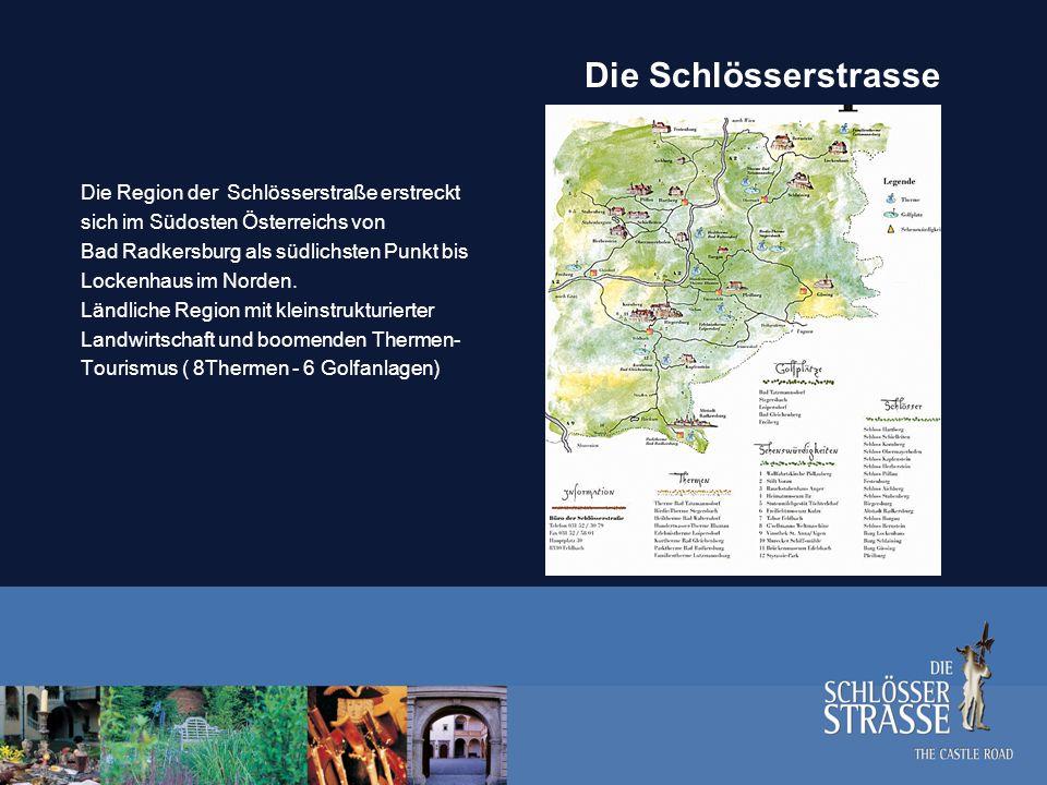 Die Schlösserstrasse Die Region der Schlösserstraße erstreckt