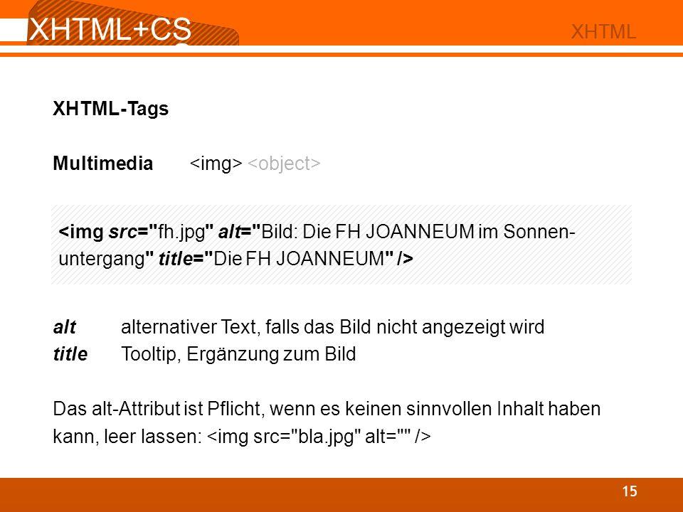 XHTML+CSS XHTML+CSS XHTML XHTML XHTML-Tags
