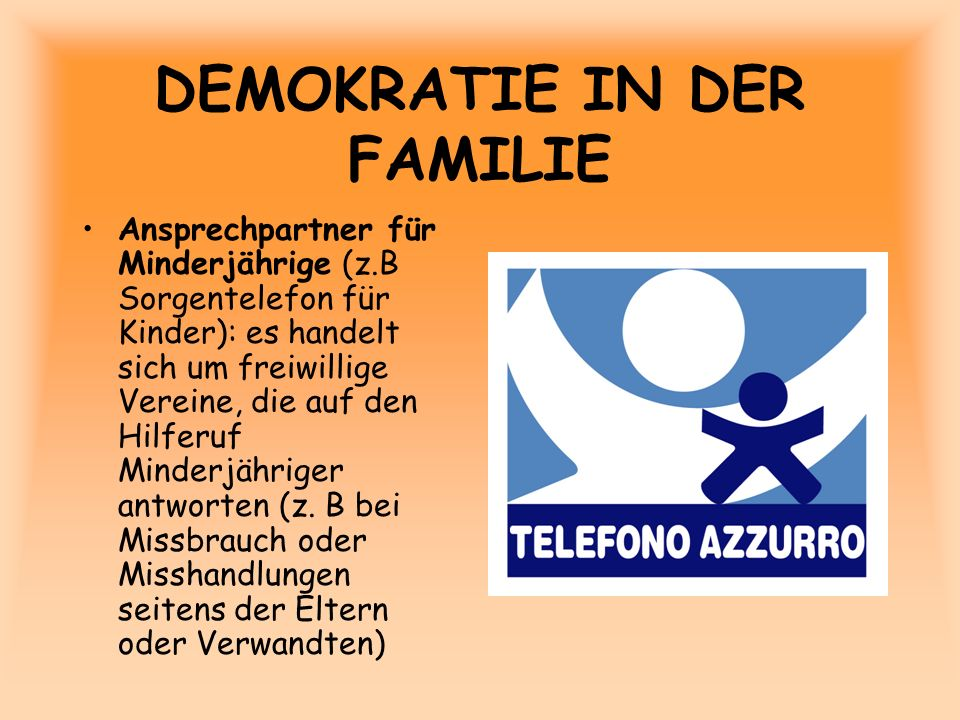 DEMOKRATIE IN DER FAMILIE