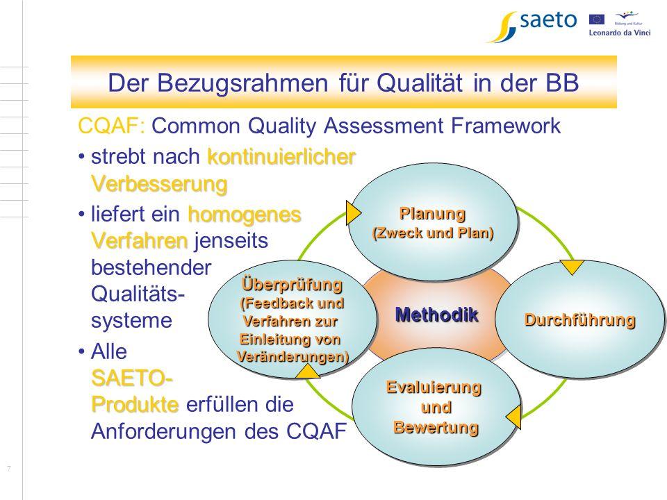Der Bezugsrahmen für Qualität in der BB