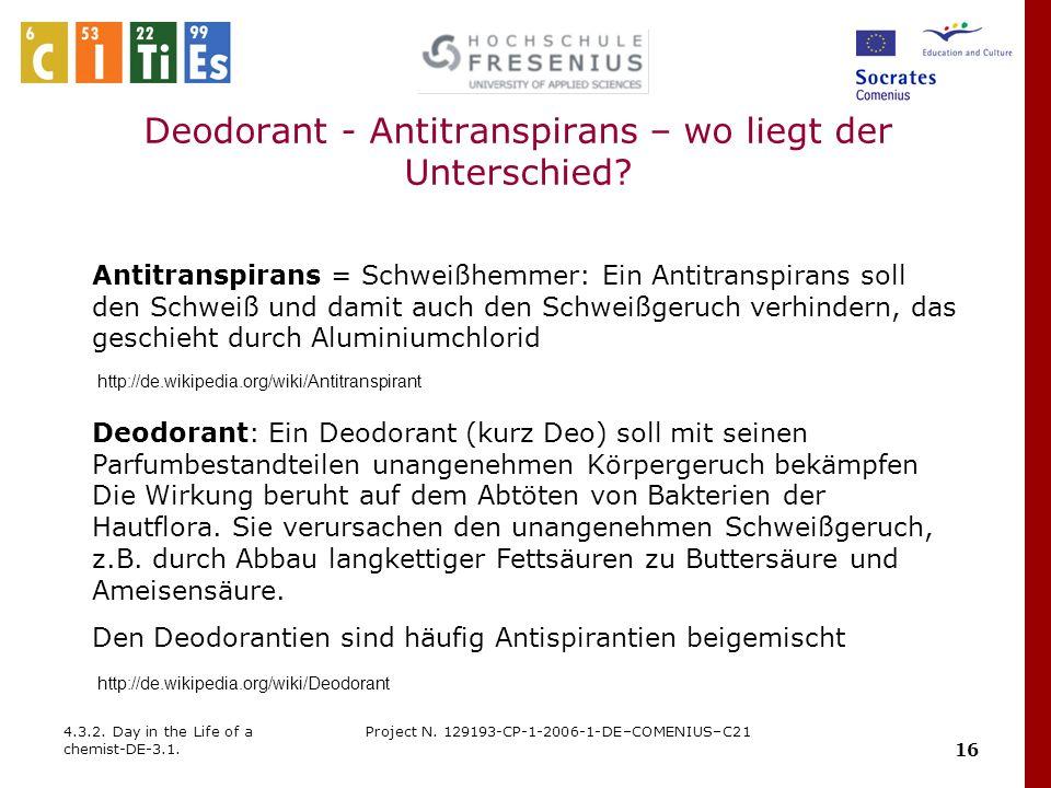 Deodorant - Antitranspirans – wo liegt der Unterschied