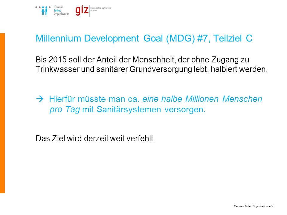 Millennium Development Goal (MDG) #7, Teilziel C