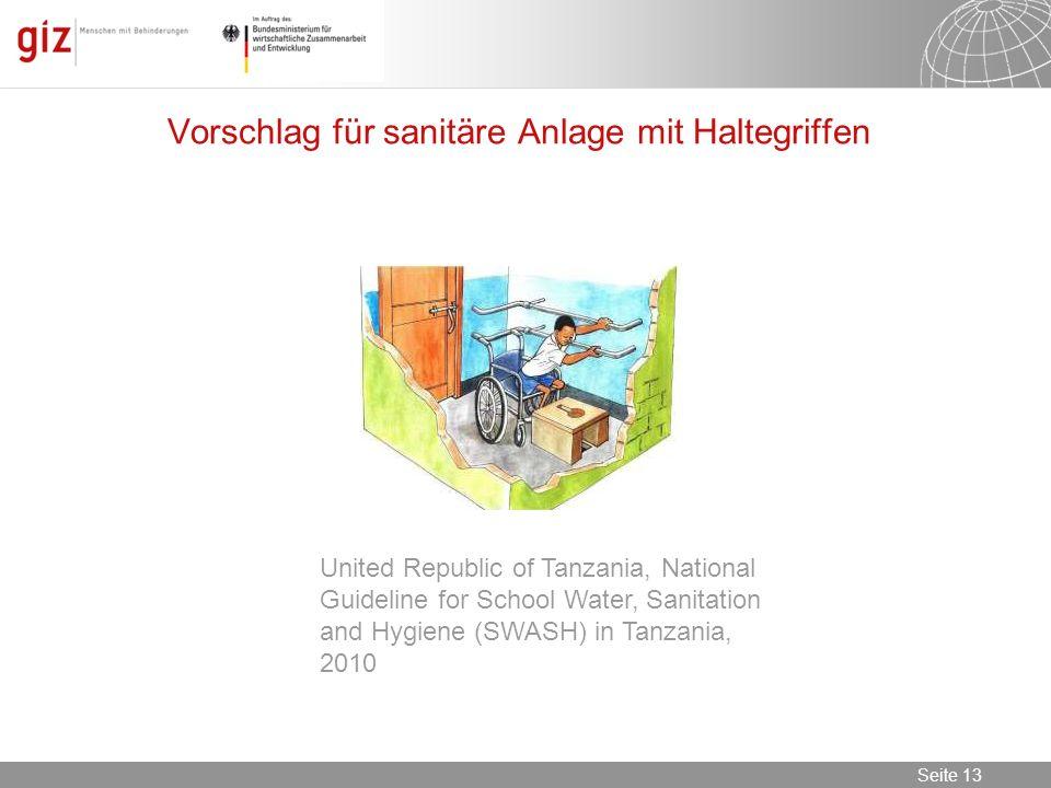 Vorschlag für sanitäre Anlage mit Haltegriffen