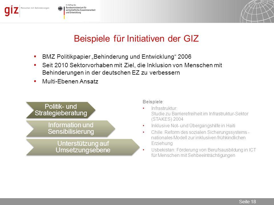 Beispiele für Initiativen der GIZ