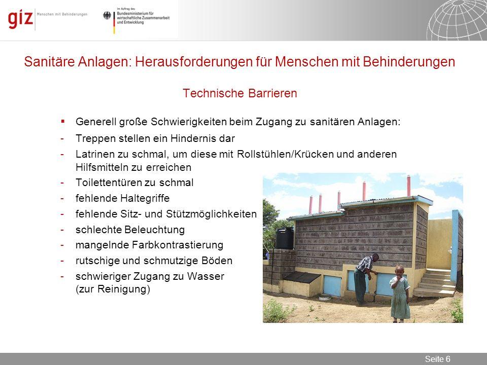 Sanitäre Anlagen: Herausforderungen für Menschen mit Behinderungen Technische Barrieren