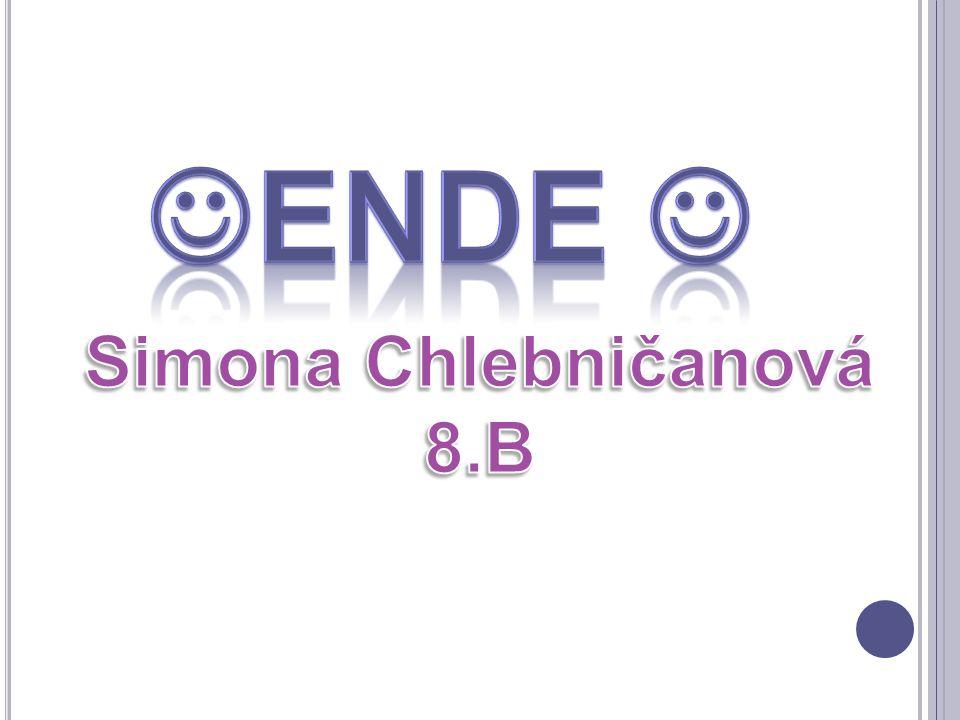 Ende  Simona Chlebničanová 8.B