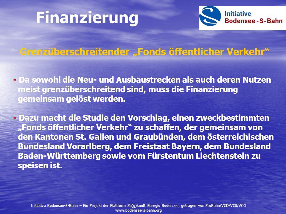 """Finanzierung Grenzüberschreitender """"Fonds öffentlicher Verkehr"""