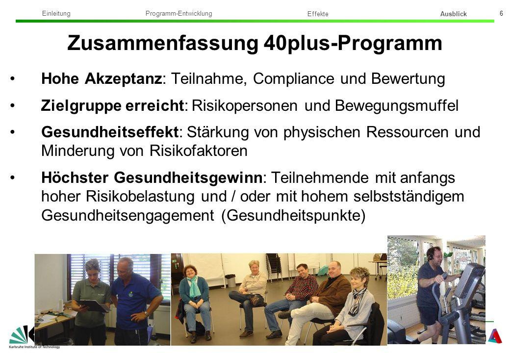 Zusammenfassung 40plus-Programm