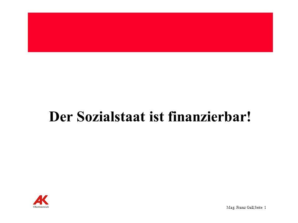 Der Sozialstaat ist finanzierbar!