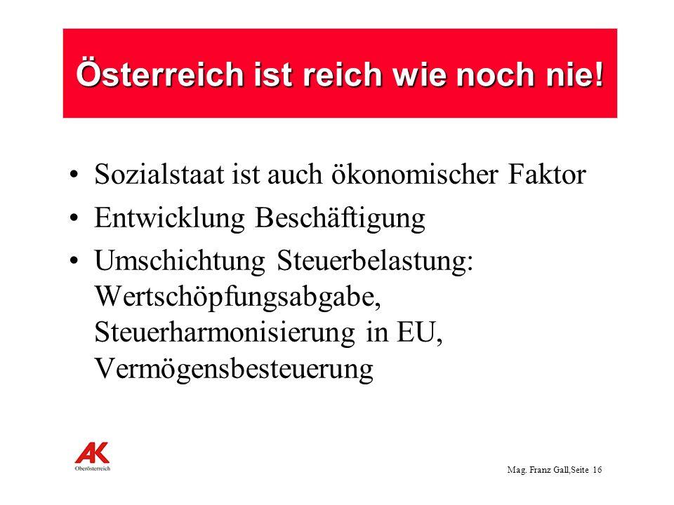 Österreich ist reich wie noch nie!