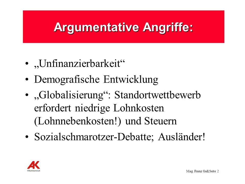 Argumentative Angriffe: