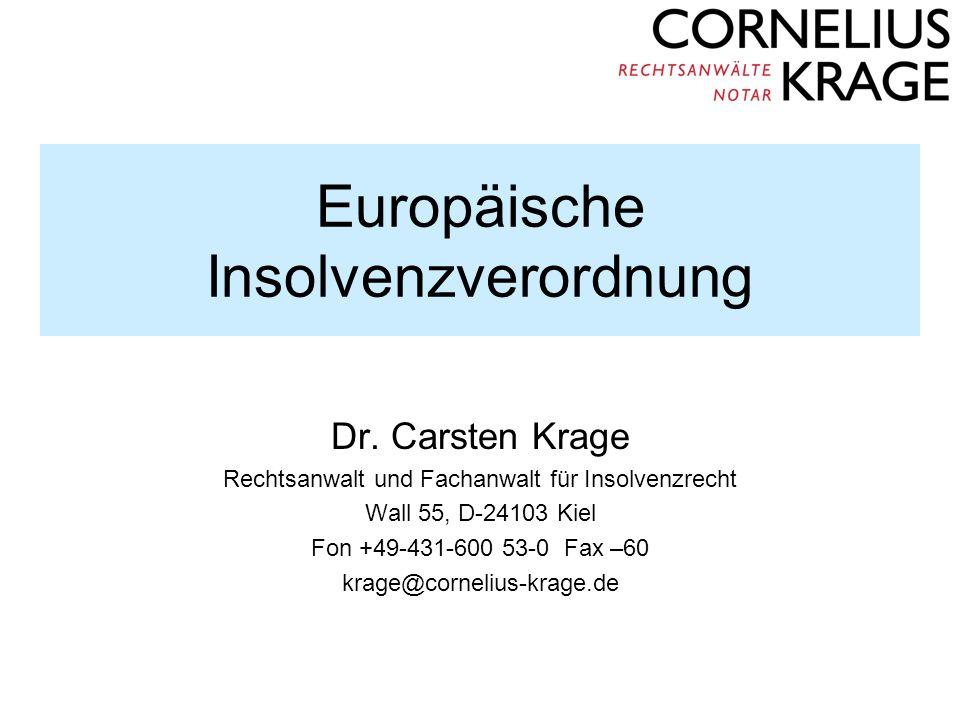 Europäische Insolvenzverordnung