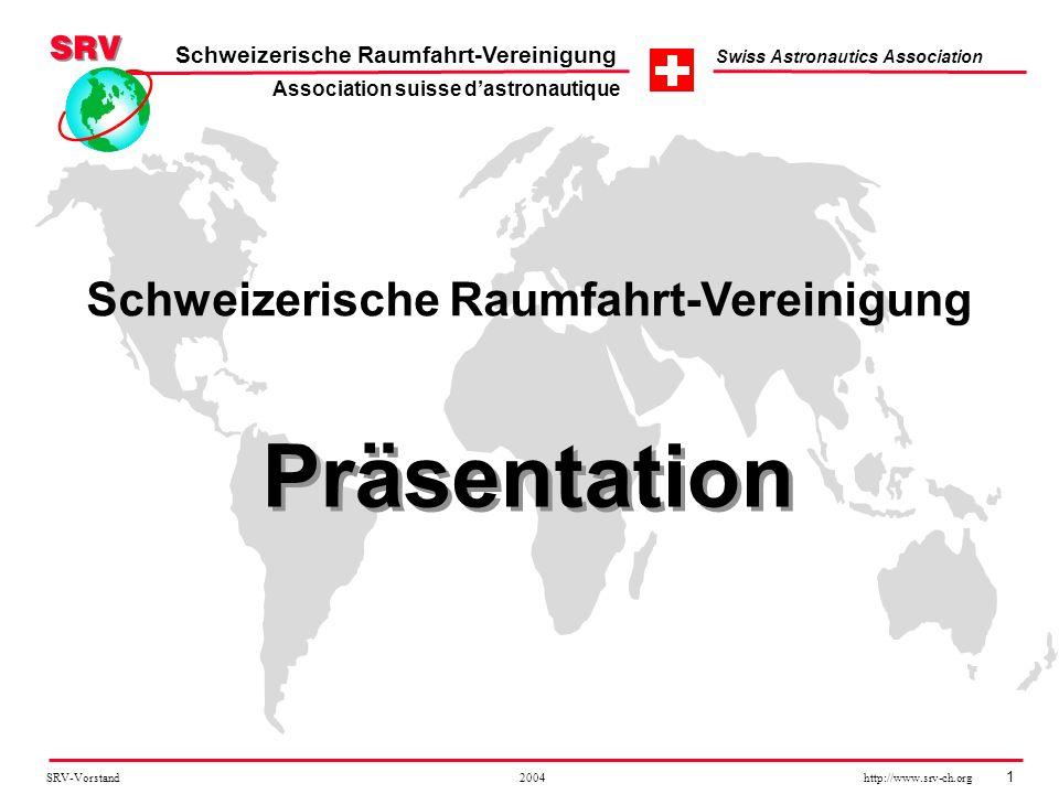 Präsentation Schweizerische Raumfahrt-Vereinigung