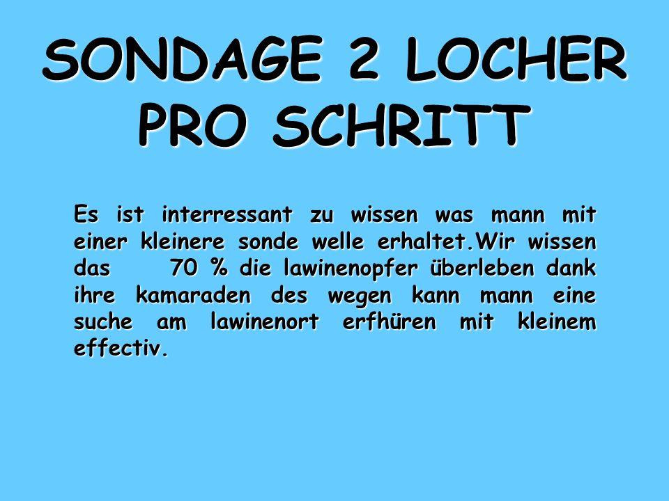 SONDAGE 2 LOCHER PRO SCHRITT