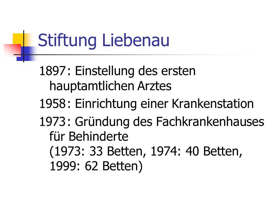 Stiftung Liebenau 1897 : Einstellung des ersten hauptamtlichen Arztes