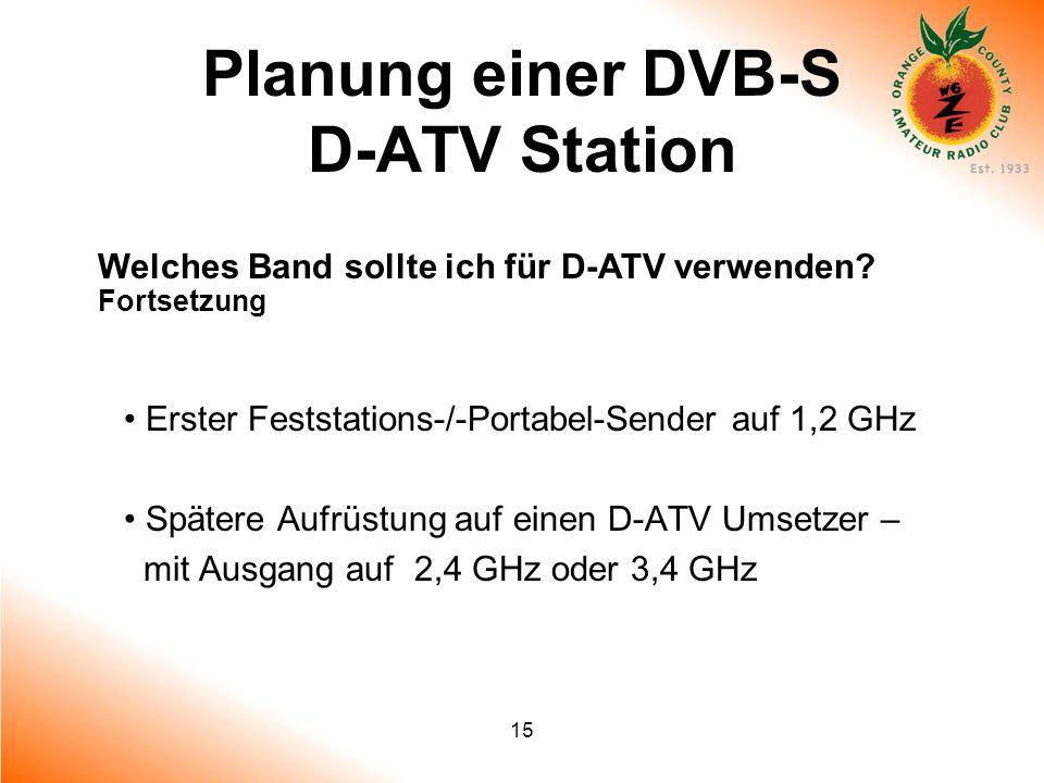 Planung einer DVB-S D-ATV Station