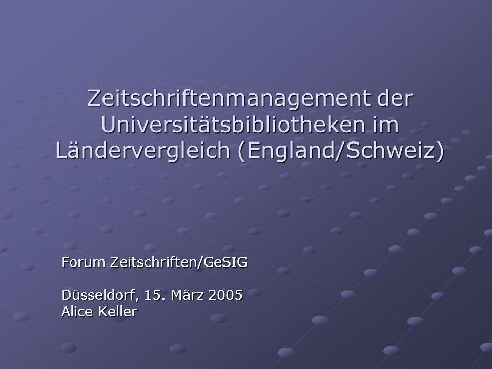 Forum Zeitschriften/GeSIG Düsseldorf, 15. März 2005 Alice Keller