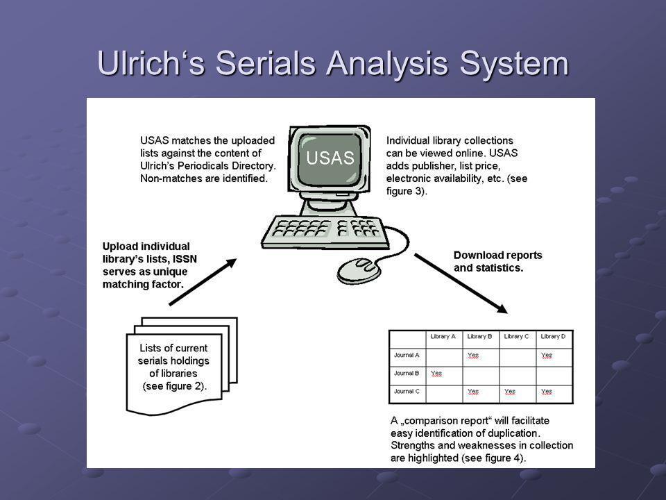 Ulrich's Serials Analysis System