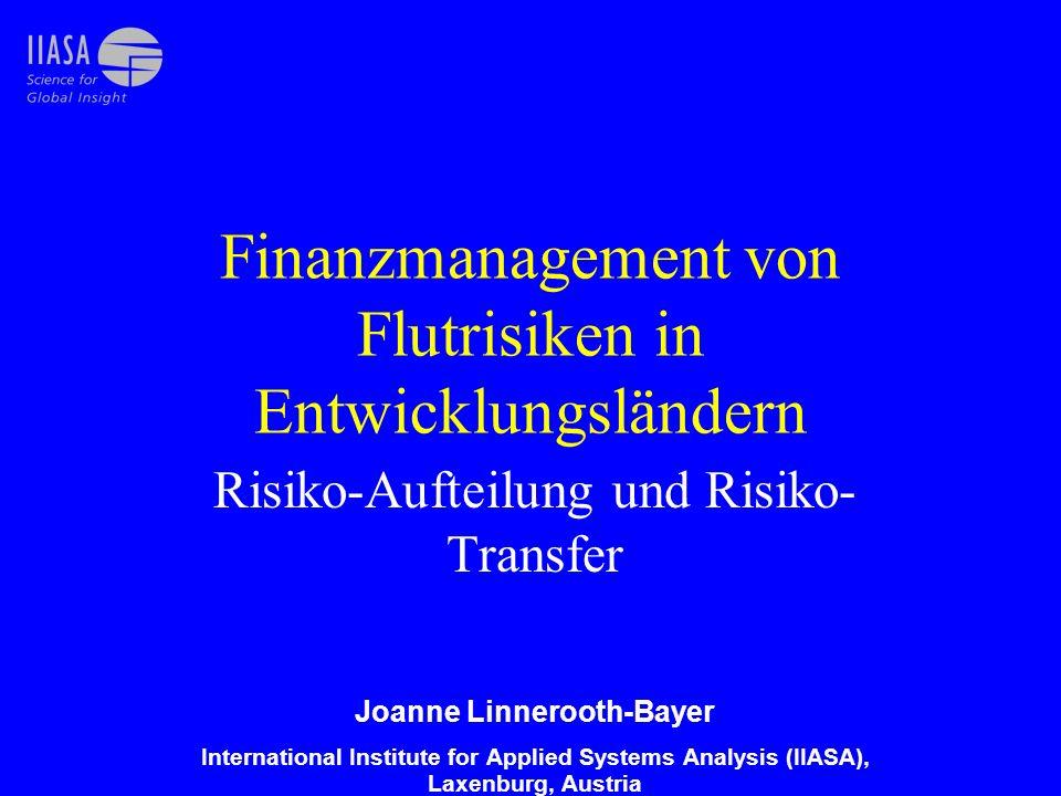 Finanzmanagement von Flutrisiken in Entwicklungsländern