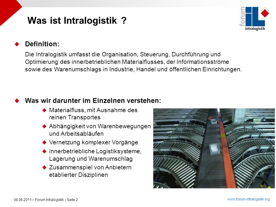 Was ist Intralogistik Definition: