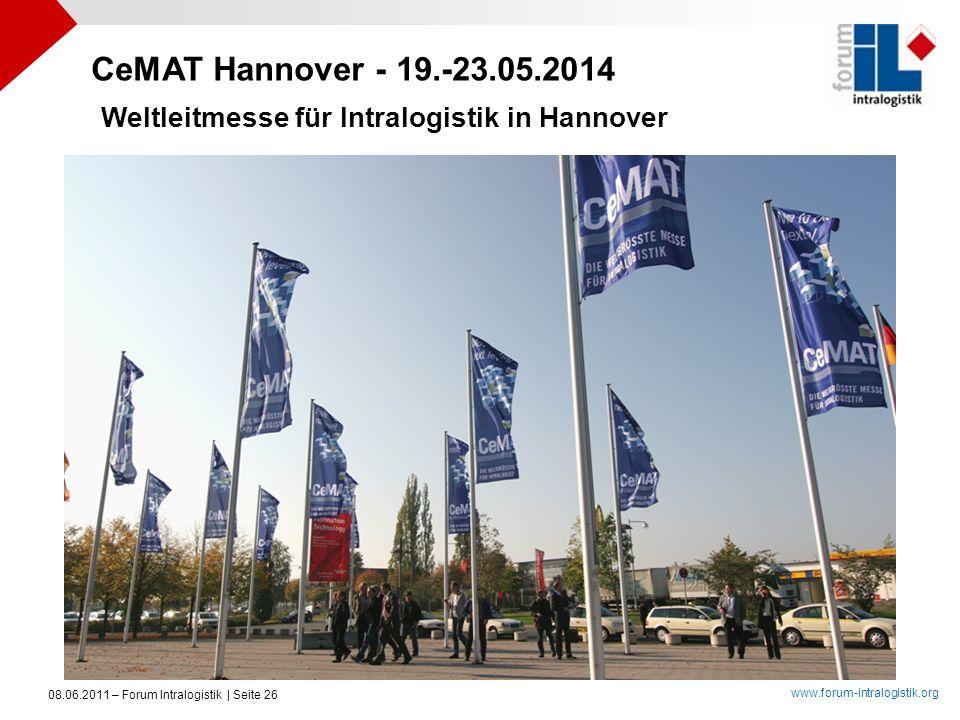 CeMAT Hannover - 19.-23.05.2014 Weltleitmesse für Intralogistik in Hannover.