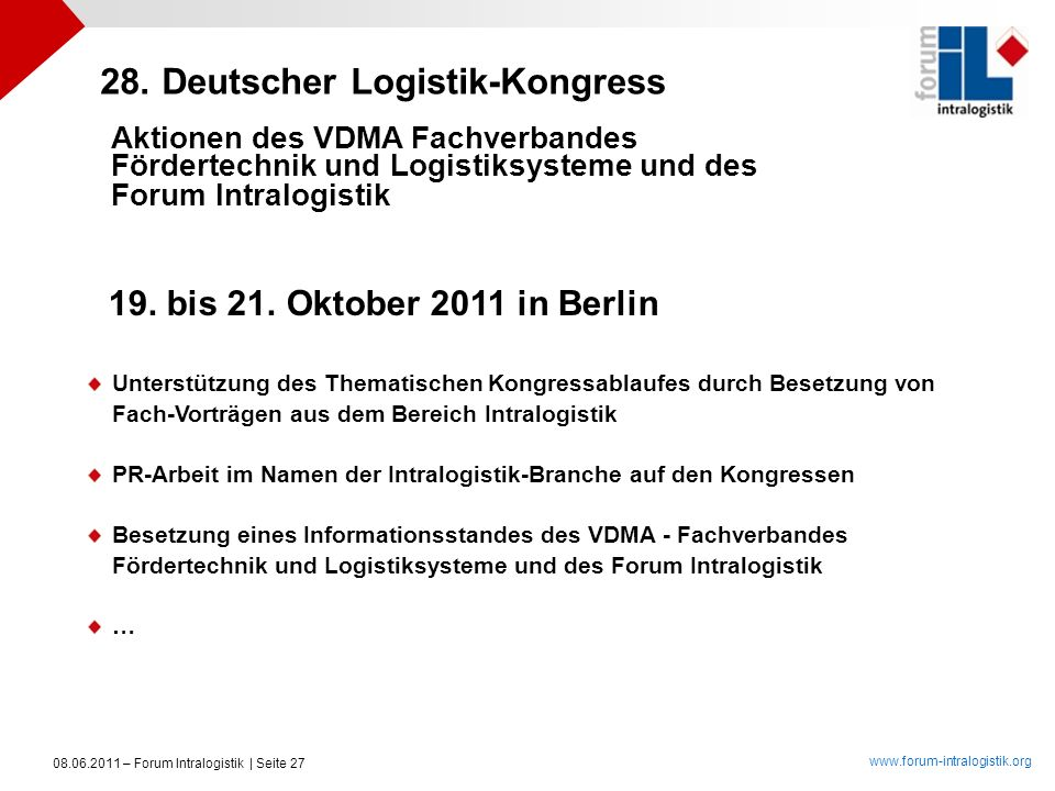 28. Deutscher Logistik-Kongress