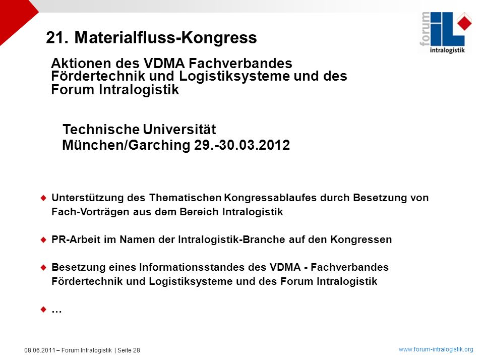 21. Materialfluss-Kongress