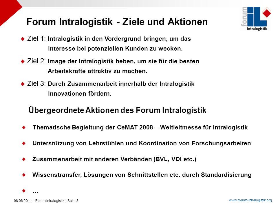 Forum Intralogistik - Ziele und Aktionen