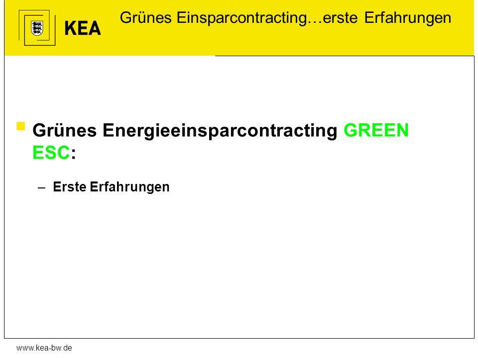 Grünes Einsparcontracting…erste Erfahrungen