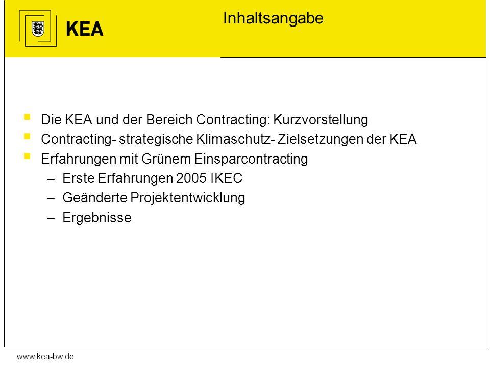 Inhaltsangabe Die KEA und der Bereich Contracting: Kurzvorstellung