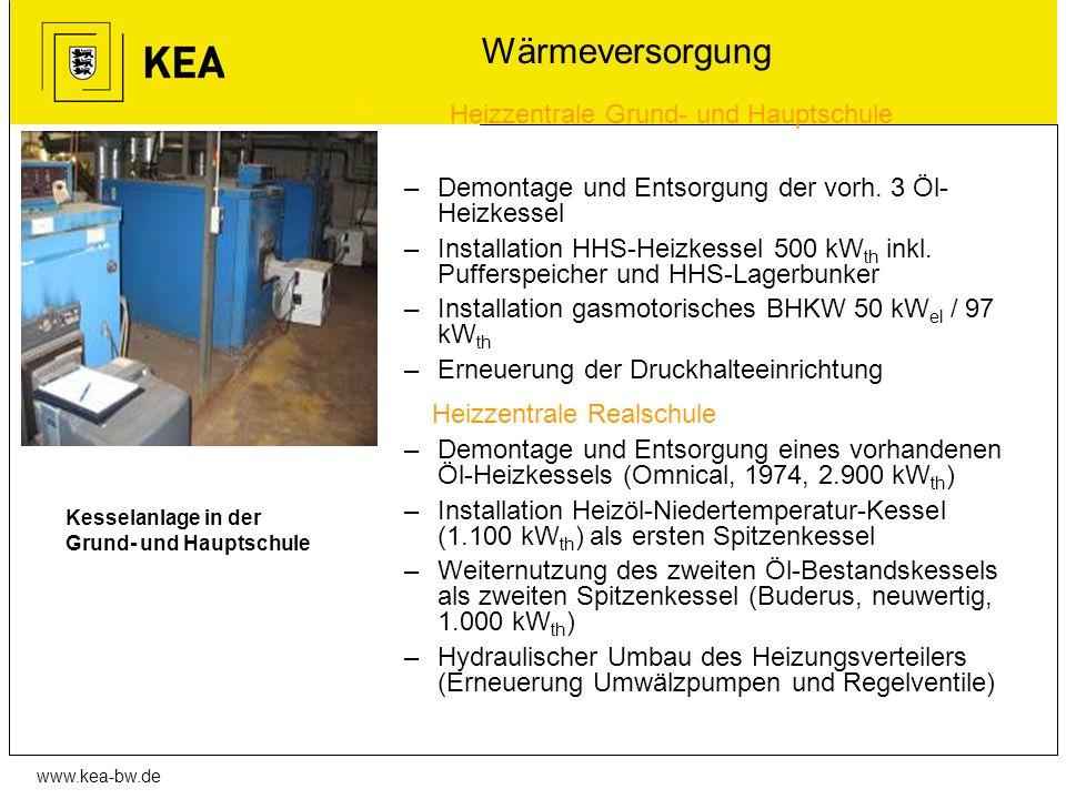 Wärmeversorgung Heizzentrale Grund- und Hauptschule