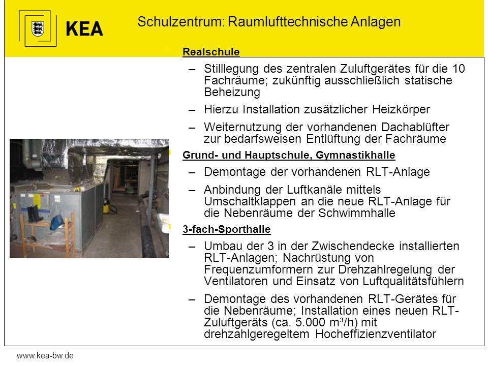 Schulzentrum: Raumlufttechnische Anlagen