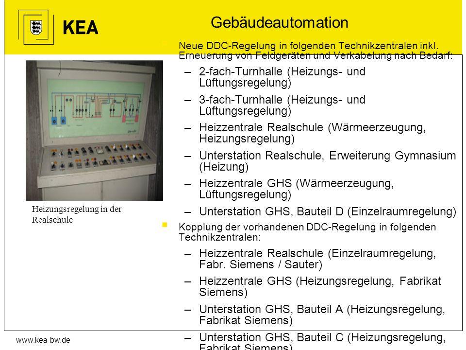 Gebäudeautomation 2-fach-Turnhalle (Heizungs- und Lüftungsregelung)