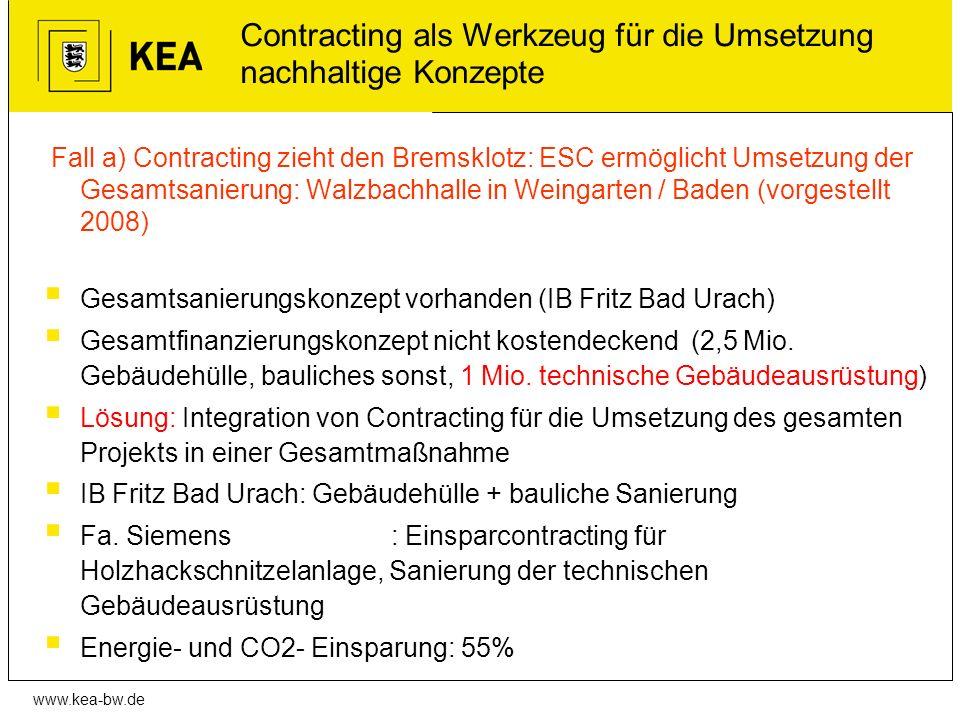 Contracting als Werkzeug für die Umsetzung nachhaltige Konzepte