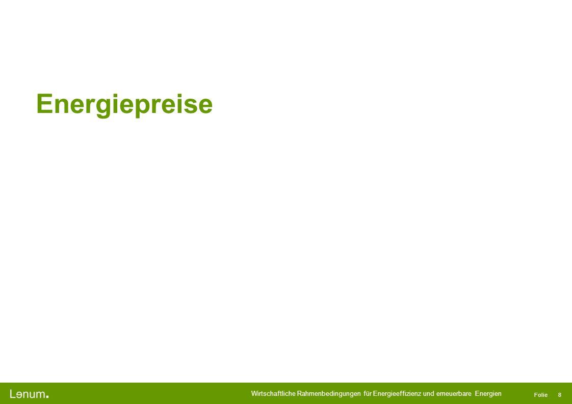 Energiepreise Referenzjahr 2009 Euro Mittelwert 2009: 1EUR=CHF 1.51