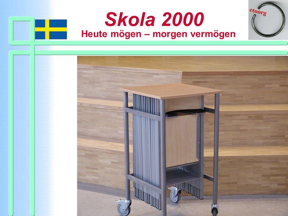 Ein Stuhlwagen, ein Beispiel für flexible Einrichtungen.
