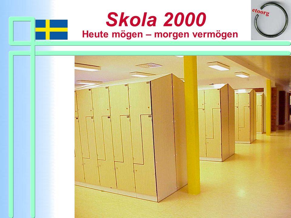 Schülerschränke gibt es nicht in jeder Skola 2000.
