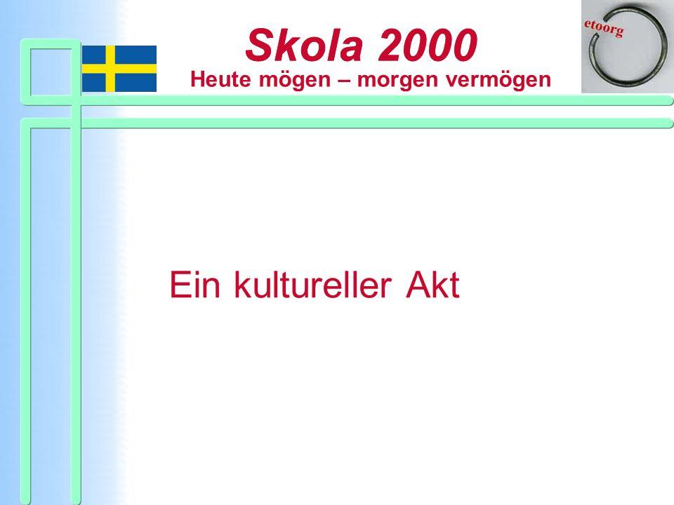 Skola 2000 Ein kultureller Akt Strukturen wollen bleiben.