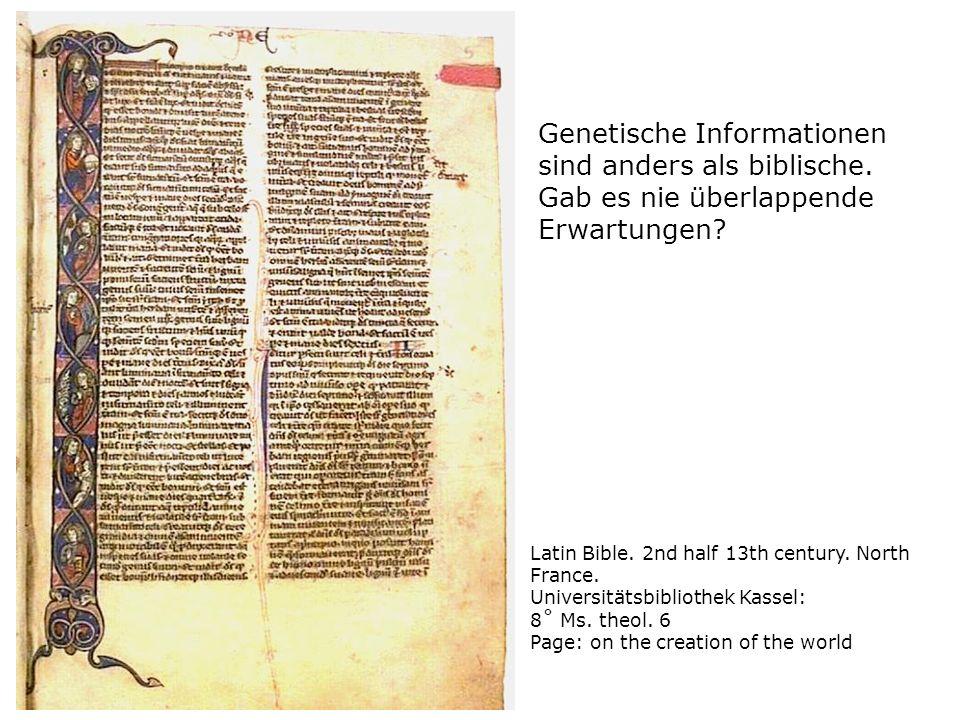Genetische Informationen sind anders als biblische