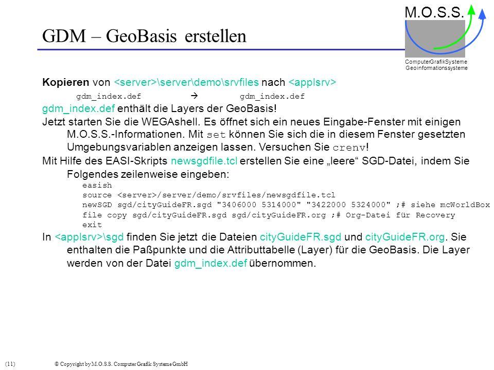 GDM – GeoBasis erstellen