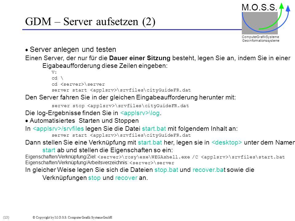 GDM – Server aufsetzen (2)