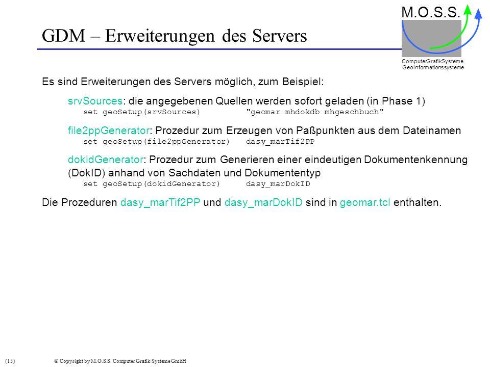 GDM – Erweiterungen des Servers