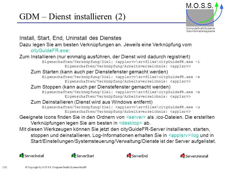 GDM – Dienst installieren (2)