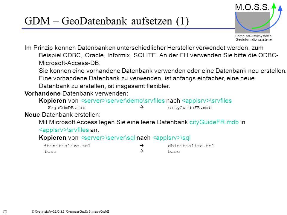 GDM – GeoDatenbank aufsetzen (1)