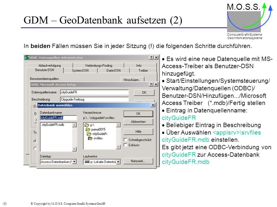 GDM – GeoDatenbank aufsetzen (2)