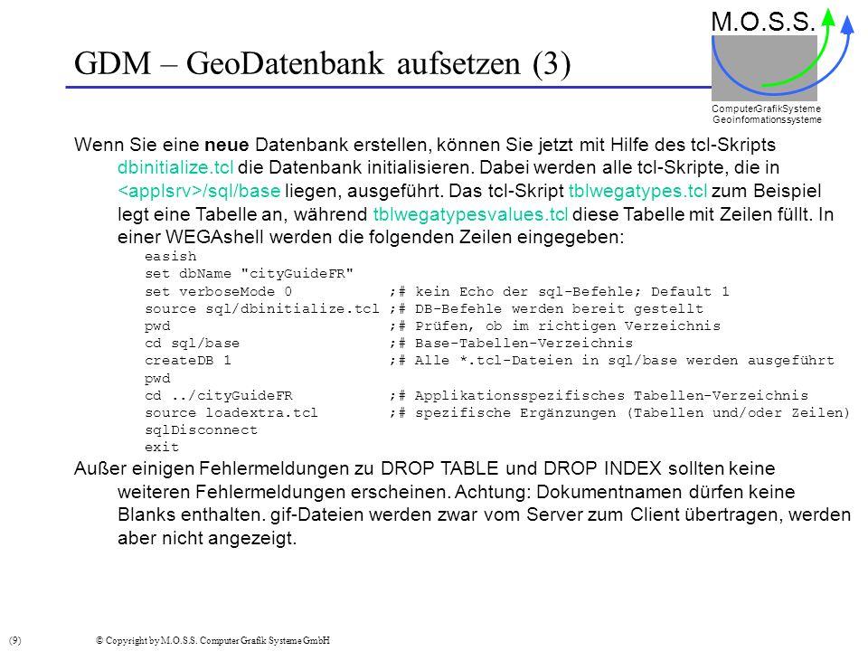 GDM – GeoDatenbank aufsetzen (3)