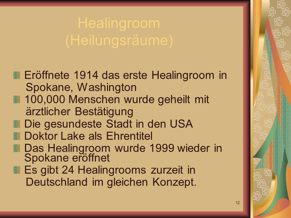 Healingroom (Heilungsräume)