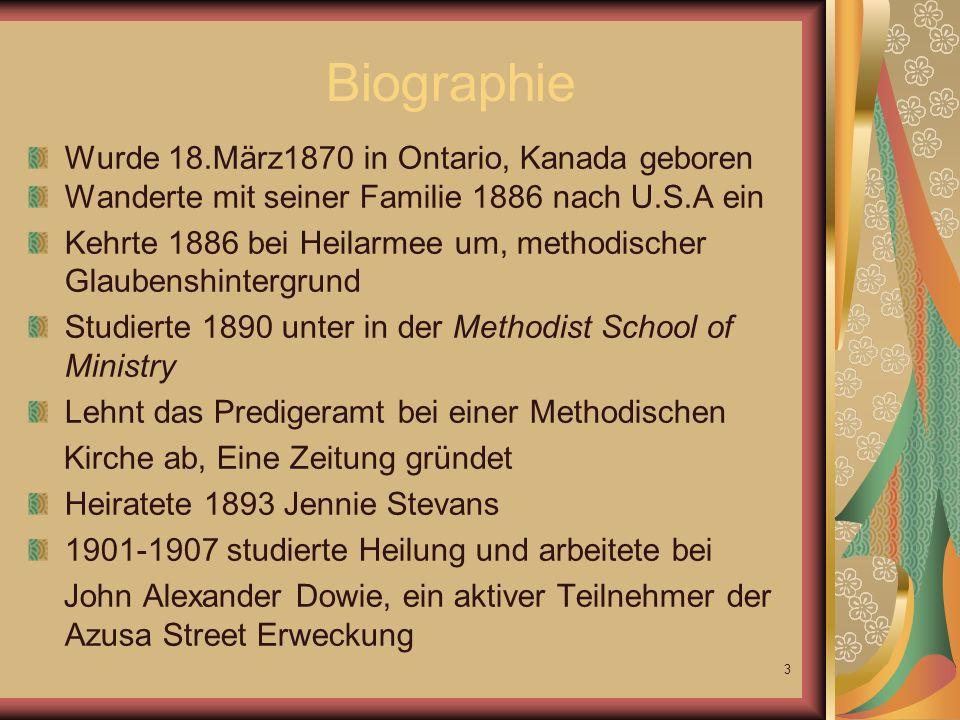 Biographie Wurde 18.März1870 in Ontario, Kanada geboren