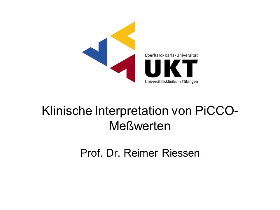 Klinische Interpretation von PiCCO-Meßwerten