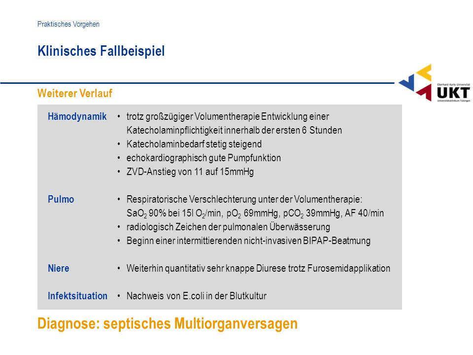 Diagnose: septisches Multiorganversagen